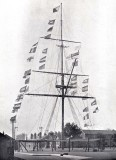 1938 - THE MAST DRESSED, NOTE THE ADMIN. BLOCK IS STILL SINGLE STORIED.jpg