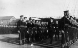 1949 - DIVISIONS, GUARD BEING INSPECTED BY AN ADMIRAL.JPG