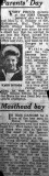 1957 - KEITH HILLABY, PARENTS DAY, NEWSPAPER CUTTING CONFIRMING KEITH WAS THE BUTTON BOY.jpg
