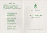 1976, 6TH JUNE - FINAL DIVISIONS, ORDER OF SERVICE, FRONT AND BACK COVERS.jpg