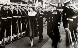 1958, JANUARY - ALFRED SINGLETON, H.M. THE QUEEN INSPECTING THE ROYAL GUARD AT HARWICH.jpg