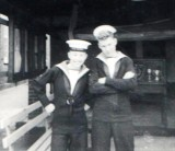 1959, 14TH JULY - MICHAEL CURWEN AND GEORGE (ABU) BARKER, 24 RECR., COLLINGWOOD, 42 MESS, 45 CLASS.jpg