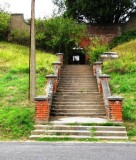 1980s - DICKIE DOYLE, STEPS FROM BENBOW LANE TO LOWER PLAYING FIELD.jpg