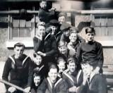 1947 - ALAN WILLIAM FOSTER. BADGE BOY IS LEANING ON ALAN'S HEAD.jpg