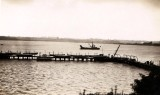 1937 - PHILIP ANTHONY (TONY) FOSTER POST CARD 018. THE PIER FROM THE HEAVY GUN BATTERY.jpg