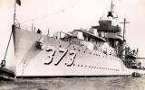 1937 - PHILIP ANTHONY (TONY) FOSTER POST CARD 020. USS Shaw (DD-373)