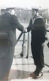 1973-76 - ANDREW BANKS, RECEIVING PRIZE OF TANKARD FOR BEST SHOT OF INTAKE FROM CAPT. MURRAY DUNLOP.jpg