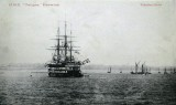 UNDATED - POST CARD SHOWING HMS. GANGES IN HARWICH HARBOUR.jpg