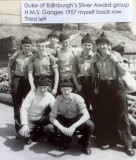1957 - JOHN BOURN, DUKE OF EDINBURGH'S SILVER AWARD GROUP.jpg