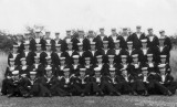 1948, 12TH OCTOBER - TERRY JONES, 116 AND 117 CLASSES, PRIOR LEAVE, I AM 2ND ROW DOWN 6TH FROM LEFT, ELDER AND HURN ADJACENT