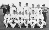 1951 - MICHAEL OLIVER HANLEY, I AM 2ND FROM RIGHT FRONT ROW, GANGES FIRST 11 CRICKET TEAM.jpg