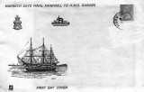 1976 - HARWICH FIRST DAY COVER, CENTRE IS THE SHIP'S OLD BADGE WHEN CAPTAINS WERE PERMITTED TO DESIGN THEIR OWN.jpg