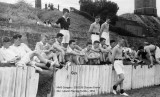 1952, 8TH SEPTEMBER - GUS BORG, DRAKE DIVISION SUPPORTERS ON THE LOWER PLAYING FIELD.jpg