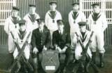 c1927 - SHOOTING TEAM WITH INTER MESS SHOOTING TROPHY.