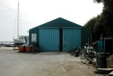 2003 - PHIL GLOVER, THE HANGAR NOW IN USE AS A 'BOAT SHED' AT THE MARINA.jpg