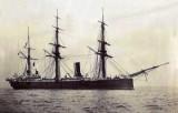 1881-1904 - HMS CORDELIA WHOSE LOWER FOREMAST IS NOW THE LOWER MAST AT HMS GANGES, SEE NOTE BELOW.jpg