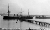 UNDATED - HMS GANGES, SHOTLEY PIER WITH FLOATING DOCK TO THE RIGHT 2.jpg