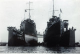 UNDATED - FLOATING DRY DOCK WITH 2 SHIPS IN IT, ADMIRALTY PIER IS JUST VISIBLE ON THE LEFT, THE DOCK LAY OFF SHOTLEY.jpg