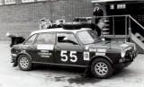 1969, NOVEMBER - KEVIN PEARCE,1970 RALLY CAR OUTSIDE NELSON HALL.JPG