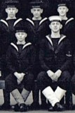 1949, 4TH JANUARY - DAVID RYE, ANNEXE, INTAKE PHOTO ZOOMED IN TO SHOW MYSELF ON THE LEFT NEXT TO THE BADGE BOY.jpg