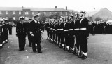 1958, FEBRUARY - MICHAEL NOONAN, GRENVILLE, 21 MESS, 271 AND 382 CLASSES, CAPT.s INSPECTION OF CLASS GUARD, I AM AT THIS END, 14