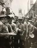 1962 - GORDON BARNES, ANSON DIVISION, ONBOARD THE MFV IN BELGIUM Q'ING FOR FOOD.jpg