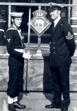 1975 - POME BERT TERRY, FEARLESS DIVISION, CLASS INSTRUCTOR, WITH THE GUARD COMMANDER.jpg