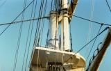 1988 - DICKIE DOYLE, SHOWING THE TOP OF THE LOWER MAST, ORIGINALLY HMS CORDELIA'S LOWER FOREMAST.JPG
