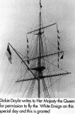 1988 - DICKIE DOYLE, THE WHITE ENSIGN BEING FLOWN ON COMPLETION OF THE REFURBISHMENT OF THE MAST.JPG