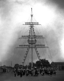 1964 - MANNED MAST WITH COMBINED RM AND BUGLE BAND.jpg