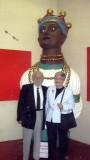 c2009 - DICKIE AND EILEEN DOYLE STANDING IN FRONT OF THE INDIAN PRINCE AFTER IT'S UNVEILING FOLLOWING RESTORATION