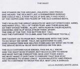 2004 - LELIA MUSSELWHITE, THE MAST, A POEM.