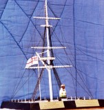 1988 - DICKIE DOYLE, REPLICA OF MAST PRESENTED TO GEOFF HILL ON COMPLETION OF THE MAST RESTORATION, FULL DETAILS ON BRASS PLAQUE