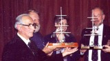1988 - JIM TOVEY, DSM, [GANGES 1926], DICKIE AND EILEEN DOYLE AND GEOFF HILL AT REPLICA MASTS PRESENTATIONS