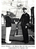 1973 - JNR. WAILES BEING CONGRATULATED BY CAPT. ASH..jpg
