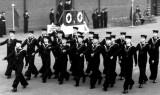 1949 - DICKIE DOYLE, 46 MESS MARCHING PAST, THE LEADING BOY IS GEOFF 'GEORDIE' SNELL.jpg