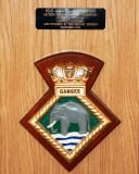 2012, DECEMBER - ERIC HOLMWOOD, THE GANGES LECTERN, MADE BY MY SON ANDREW HOLMWOOD, PLAQUE AND BADGE.jpg