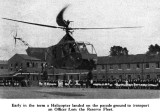 1946 - JIM WORLDING, HELICOPTER LANDS ON THE PARADE GROUND, FROM THE  SHOTLEY MAGAZINE.jpg