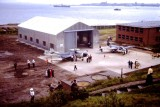 1963 - DICKIE DOYLE, PARENT'S DAY, SHOWING THE NEW HANGAR, TWO AIRCRAFT AND ENRIGHT BLOCK