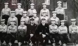 1964 - ANDY CULLEN, KEPPEL, 80 CLASS, I AM FRONT ROW FAR LEFT AND ROCKY HUDSON IS HOLDING THE BOARD