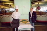 2006 - DICKIE DOYLE, MYSELF AND THE CHEF WITH THE GANGES CAKE AT A PAKEFIELD REUNION