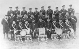 1930s - DICKIE DOYLE, THE BAND WITH THEIR MARINE BAND INSTRUCTORS.JPG