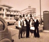 1966 - DESMOND COXHEAD, OPEN DAY, MY BROTHER, HIS WIFE, DAVE FARMER, MY MOTHER AND MYSELF IN HARWICH