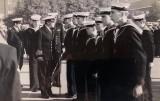 1970, 21ST APRIL - STEVE WAILES, JME LATER AIRCREW, CAPTAIN'S INSPECTION, I WAS CLASS LEADER SO JUST BEHIND HIM.jpg