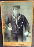 PRE 1900 - DAVID PERCIVAL, SELF EXPLANATORY PORTRAIT, VERY POSSIBLY WHEN HMS GANGES LAY OFF MYLOR IN 'St. JUST POOL'.jpg