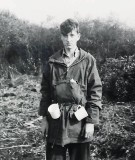 1965 - PETE OSLER, DUNCAN, 11 MESS, EXPED TO WICK FEN, AFTER AN ALL NIGHT MAP READING EXERCISE.jpg