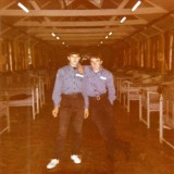 1972, SEP-1973, JUN - TAFF HILL, HAWKE, 40 MESS - MELVIN LODWICK ON LEFT TAFF ON RIGHT