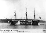 1886 - KEITH MORRIS, HMS GANGES AT FALMOUTH IN 1886.jpg