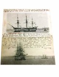 1903-05 - DAVID PERCIVAL, 2 POSTCARDS, GANGES AT FALMOUTH POSTMARKED 1903, GANGES AT HARWICH POST MARKED 1905.jpg