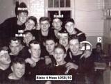 1958-59 - PETER 'FLOGGER' LAMBOURNE, 16 RECR., BLAKE, 4 MESS, 15 CLASS, X.
